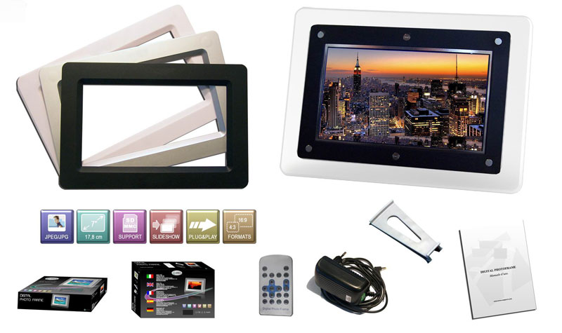 7″ digital picture frame with changeable face plates | China Digital ...