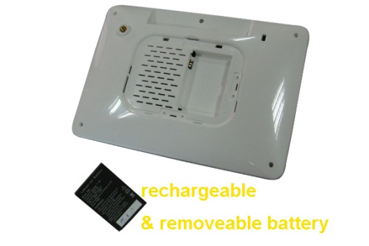 digital photo frame battery rechargeable removeable
